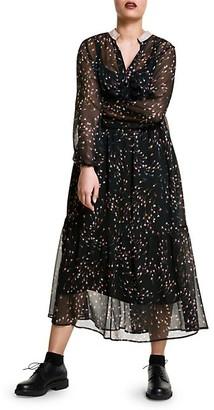 Marina Rinaldi, Plus Size Floral Long-Sleeve Midi Dress
