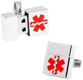 Ravi Ratan Men's Silver Medical USB Cufflinks (8GB)