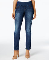 Jag Peri Pull-On Straight-Leg Jeans