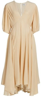 TOVE Veda Silk Midi Dress