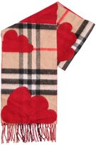 Burberry Check Doubled Cashmere Scarf