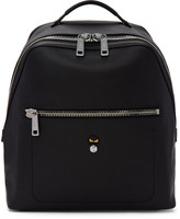 Fendi Black Leather micro Bugs Backpack