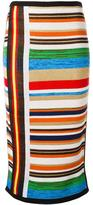 No.21 striped knit skirt