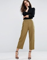 Asos Relaxed Crop Pant with Pleat Front