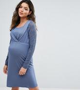 Mama Licious Mama.licious Mamalicious Nursing Lace Sleeve Skater Dress