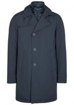 Herno Navy Water-resistant Shell Coat