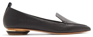 Nicholas Kirkwood Beya Point-toe Grained-leather Loafers - Black