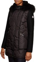 Moncler Theodora Lamb Fur Onion Stitch Down Coat