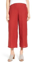 Eileen Fisher Petite Women's Organic Linen Crop Wide Leg Pants