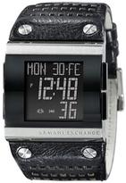 Armani Exchange Black Perforated Digital Watch