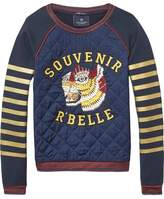 Scotch & Soda Woven Embroidered Sweatshirt