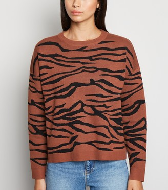 New Look Blue Vanilla Tiger Print Jumper