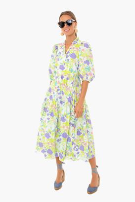 Les Rêveries Ruffle Prarie Wrap Midi Dress