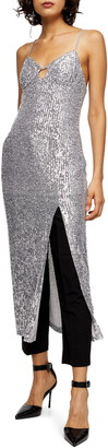 Topshop Sequin Midi Dress