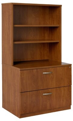 Lateral File Hutch 2-Drawer Vertical Filing Cabinet Trendway