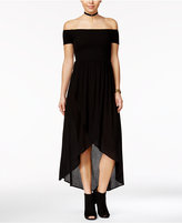 American Rag Off-The-Shoulder Tulip-Front Maxi Dress, Only at Macy's