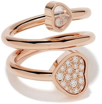 Chopard 18kt rose gold Happy Hearts diamond twist ring