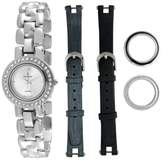 Peugeot Women's 669 Interchangeable Bezel and Band Gift Watch Set