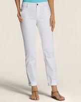 Chico's Platinum Denim Boyfriend Jeans in White Wash