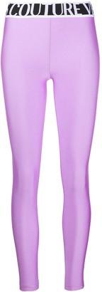 Versace Logo-Intarsia Leggings