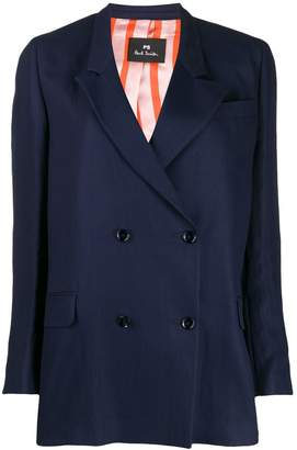 Paul Smith boxy fit double-buttoned blazer