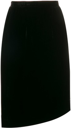 Valentino Pre-Owned 1990's Gathered Asymmetric Skirt