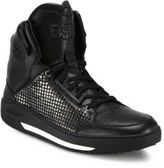 DSQUARED2 Vitello Studded Sport High-Top Sneakers