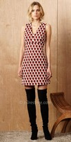 Greylin V-Shape Jacquard Knit Dress