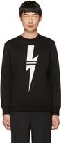 Neil Barrett Black Sport Thunderbolt Sweatshirt