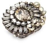 Miriam Haskell Swarovski Crystal Studded Cocktail Ring