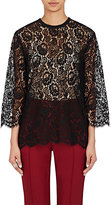 Dolce & Gabbana Women's Lace Long-Sleeve Top-BLACK