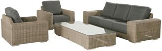 4 Seasons Outdoor Kingston 5 Seater Garden Lounge Set, Pure