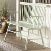 Beachcrest Home Annie Rubber Wood Bench Color: Mint