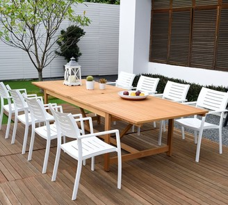 Pottery Barn Pimenta 9-Piece Rectangular Dining Table with Marshall Dining Armchair Set
