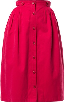 Christian Dior Pre-Owned Gathered Midi Skirt
