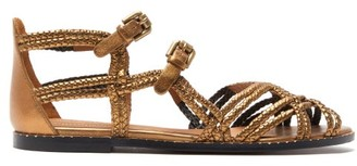 See by Chloe Braided Leather Sandals - Womens - Bronze