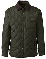 Classic Men's Quilted Primaloft Shirt Jacket Navy