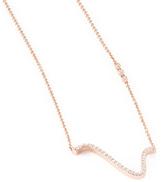 "Paige Novick Infinity Curved"" Diamond Necklace"