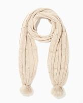 Charming charlie Studded Knit Pom Scarf