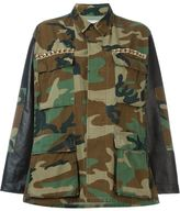 Forte Couture - embellished camouflage jacket - women - Cotton/Leather/Nylon - XS
