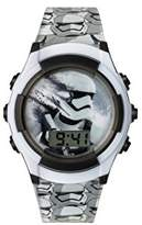 Star Wars Boy's Digital Watch with White Dial Digital Display and Black Plastic Strap SWM3069