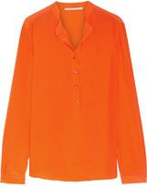 Stella McCartney Eva Silk Crepe De Chine Blouse - Bright orange