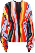 SOLACE London Silk Davine Multi Stripe Top