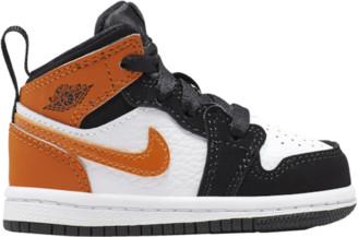 Jordan AJ 1 Mid Basketball Shoes - Black / Starfish White