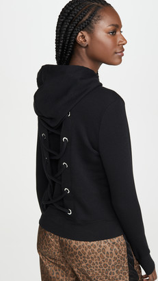 Good American Active Laced Back Hoodie Jacket