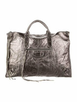 Thumbnail for your product : Balenciaga Motocross Classic Weekender Silver