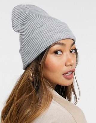 SVNX benny beanie hat in grey marle
