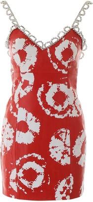 Area Embellished Trim Slip Dress