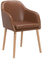 Tan Leatherette Bento Dining Chair