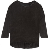 Raquel Allegra Tie-dyed Jersey Top - Black